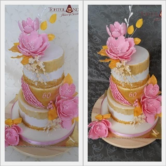 Excellent Elegant 60Th Birthday Cake Cake By Tortolandia Cakesdecor Personalised Birthday Cards Paralily Jamesorg