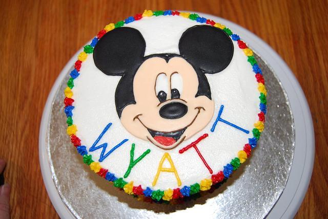 Mickey Mouse Smash Cake