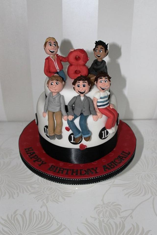 One Direction lemon curd cake