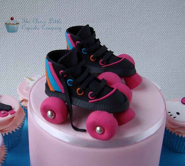 Awesome Roller Skate Birthday Cake Cake By Amandas Little Cake Cakesdecor Personalised Birthday Cards Petedlily Jamesorg