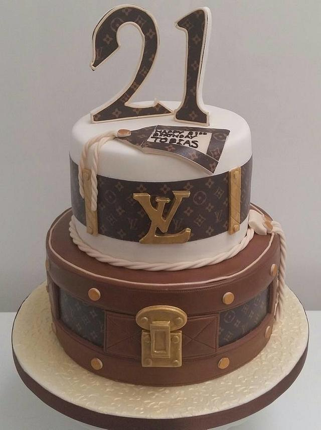 Cool 21St Birthday Cake Inspired By Louis Vuitton Cake By Cakesdecor Birthday Cards Printable Benkemecafe Filternl