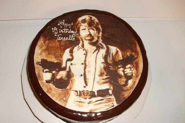 Superb Chocolate Chuck Norris Birthday Cake Cake By Cakesdecor Personalised Birthday Cards Sponlily Jamesorg