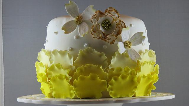 Yellow ombre Birthday cake