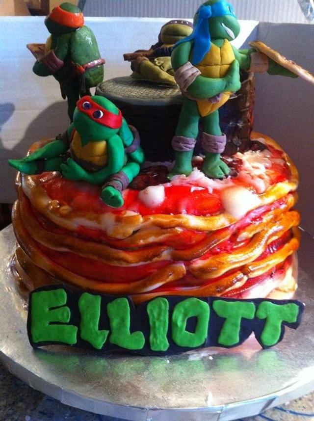 "Ninja Turtles ""Cowabunga Pizza Cake"""
