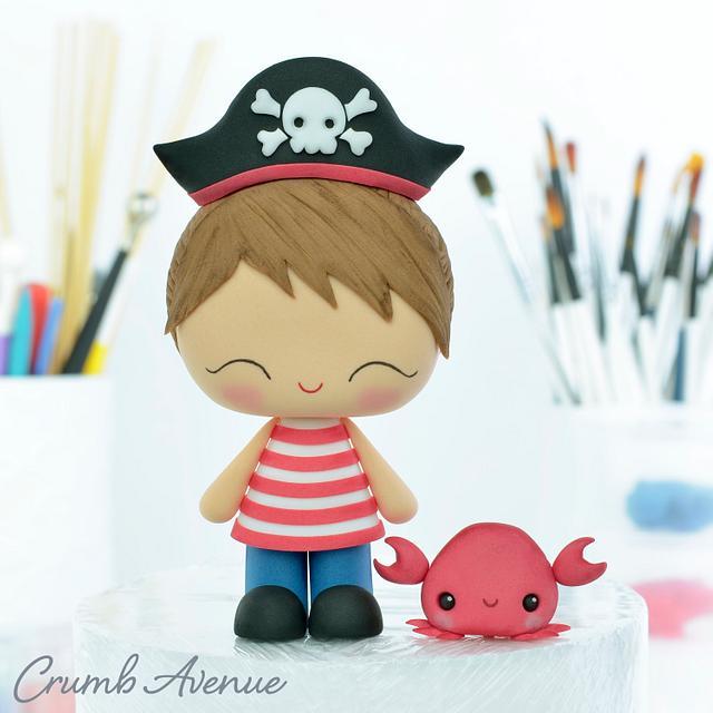 Cute Pirate Cake Topper