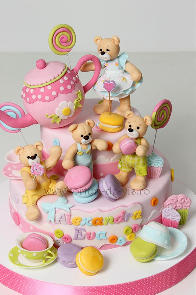 Teddy Bears and Candy cake
