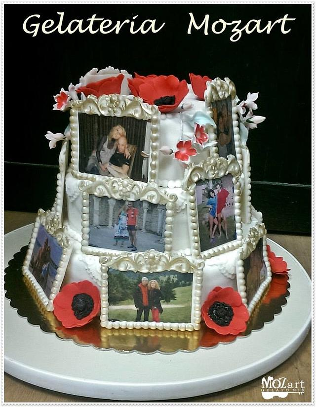 a different kind of  wedding cake