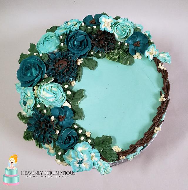 Buttercream Flower Cake !