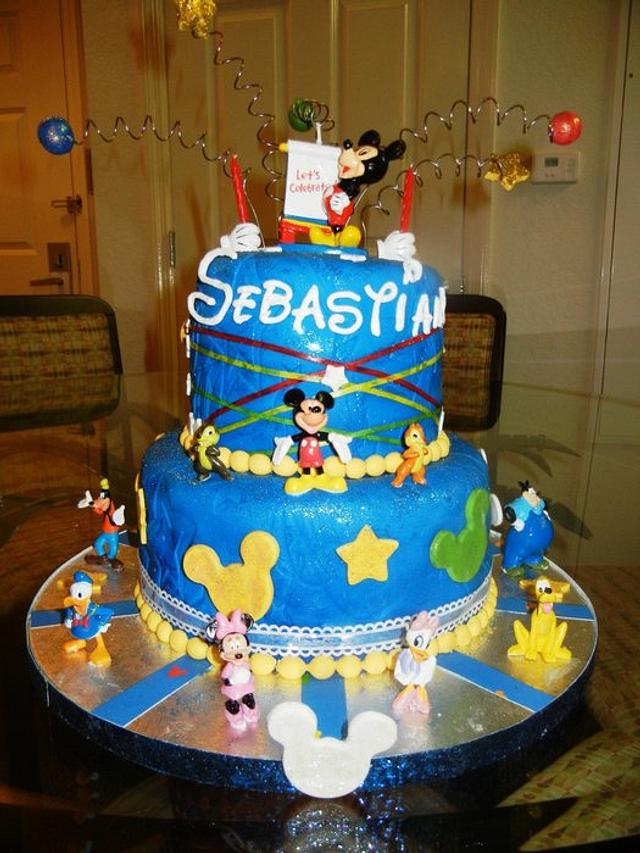 Marvelous Disney Birthday Cake Cake By Fun Fiesta Cakes Cakesdecor Personalised Birthday Cards Paralily Jamesorg