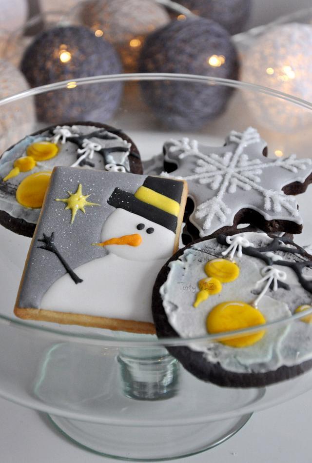 Christmas wedding sugar cookies