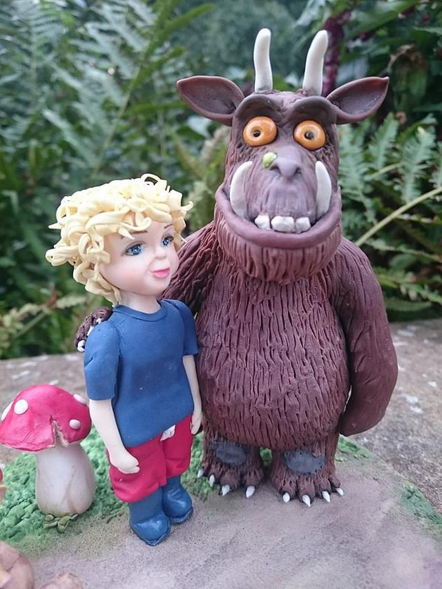 Tobias and The Gruffalo cake topper