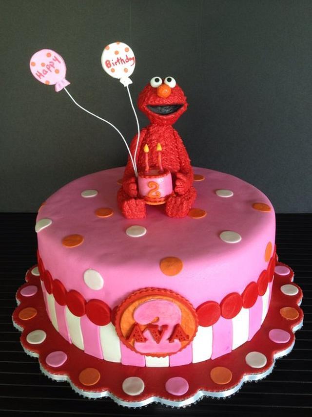 Superb Elmo Birthday Cake For Ava Cake By The Vagabond Baker Cakesdecor Personalised Birthday Cards Paralily Jamesorg