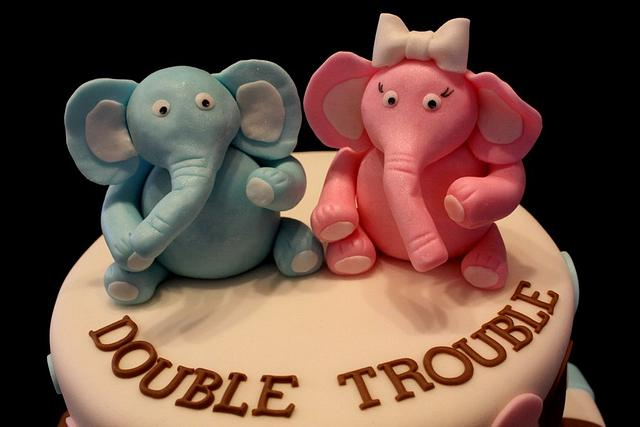 Double Trouble Babyshower cake
