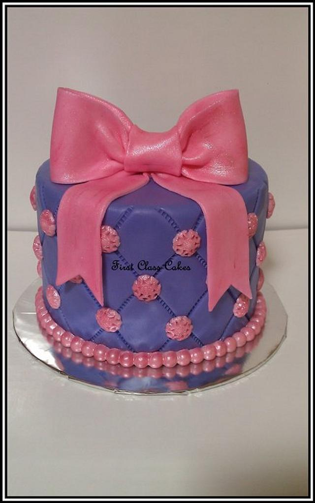 Pink & Purple Quilted Cake