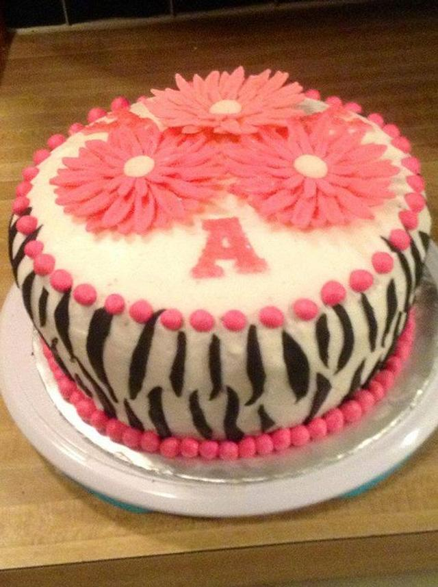 Admirable Zebra Birthday Cake Cake By Missy Cakesdecor Funny Birthday Cards Online Alyptdamsfinfo