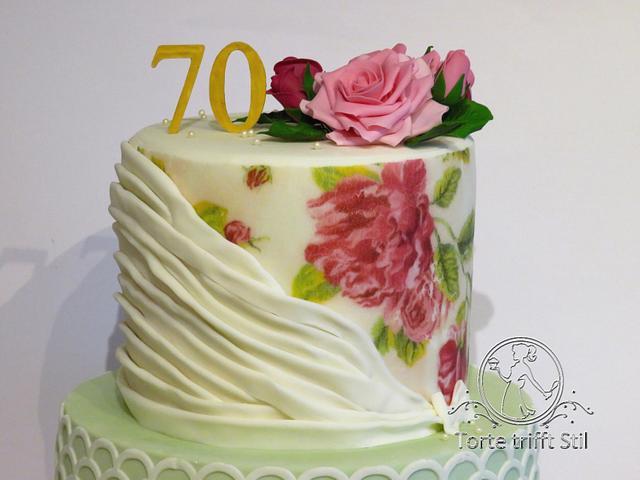 romantic rose cake