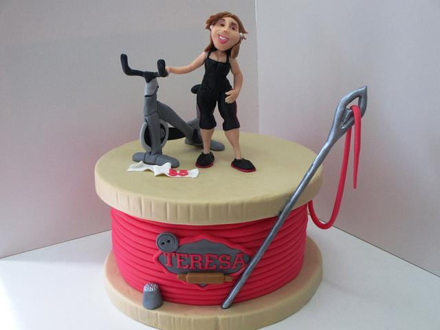Active Woman Cake