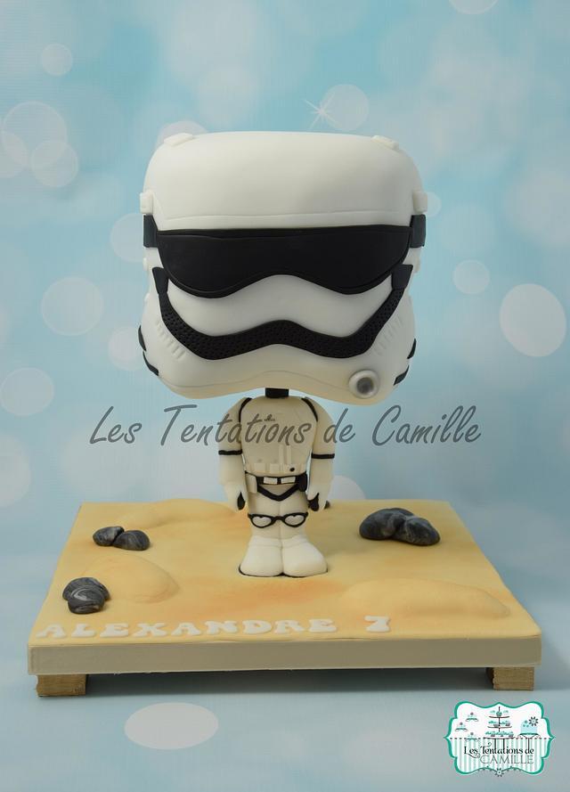 Chibi Stormtrooper Cake