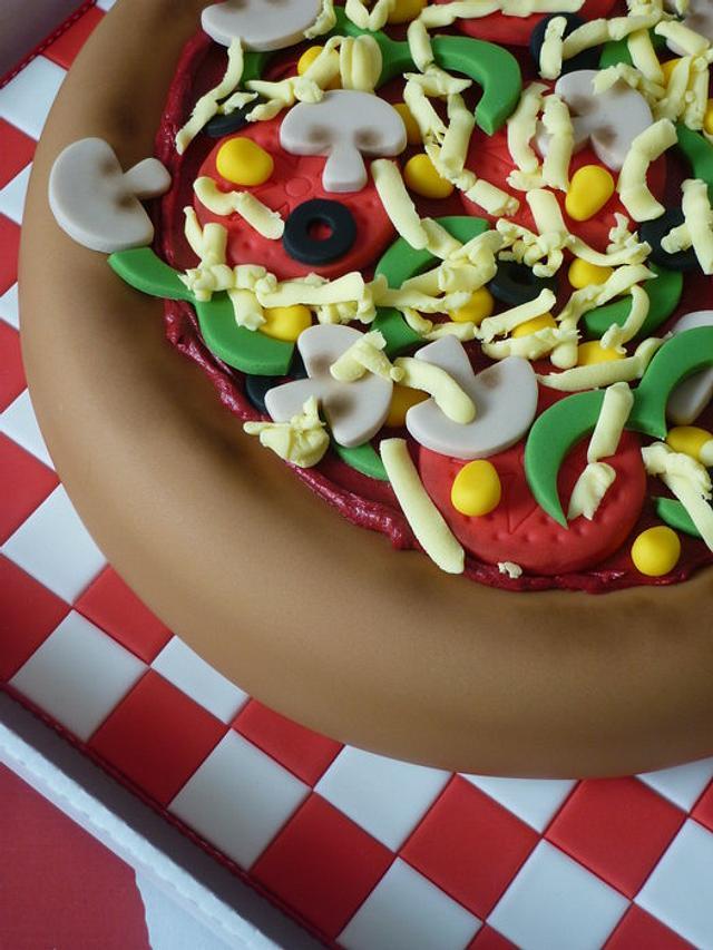 Pizza birthday cake