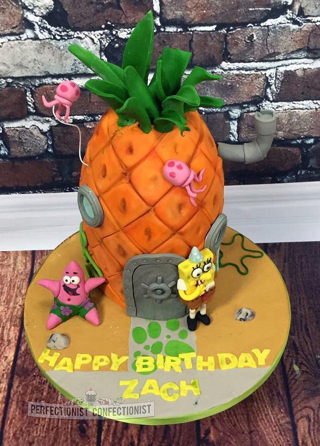 Pleasing Zach Spongebob Birthday Cake Cake By Niamh Geraghty Cakesdecor Funny Birthday Cards Online Fluifree Goldxyz