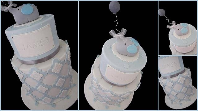 Moroccan themed Christening cake with baby elephant!