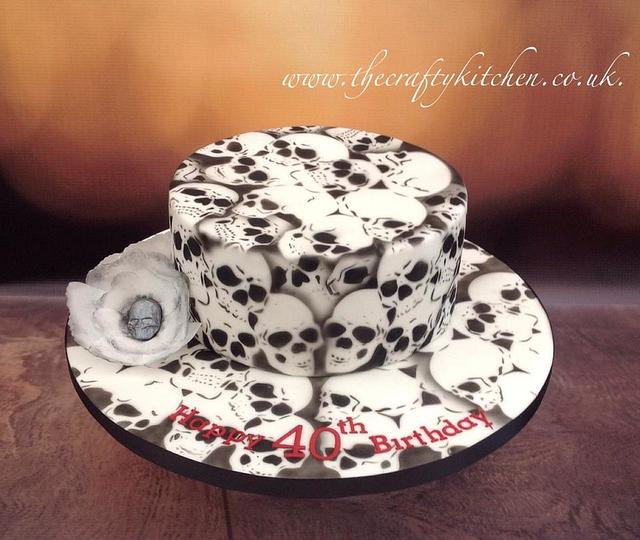 Swell Goth Birthday Cake By The Crafty Kitchen Sarah Cakesdecor Funny Birthday Cards Online Aeocydamsfinfo