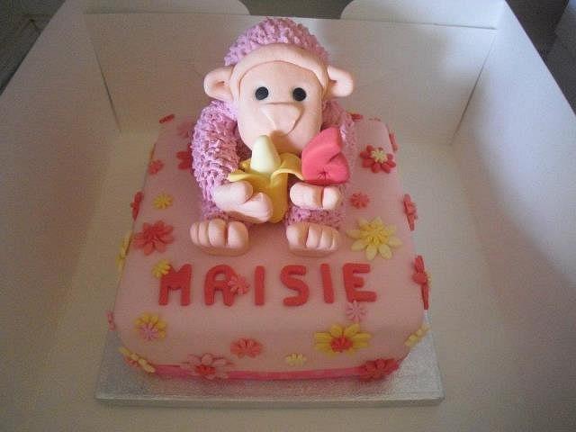 Birthday Cake Maisie's Pink Monkey.