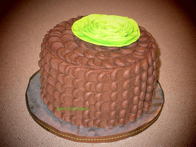 Chocolate Petal Cake