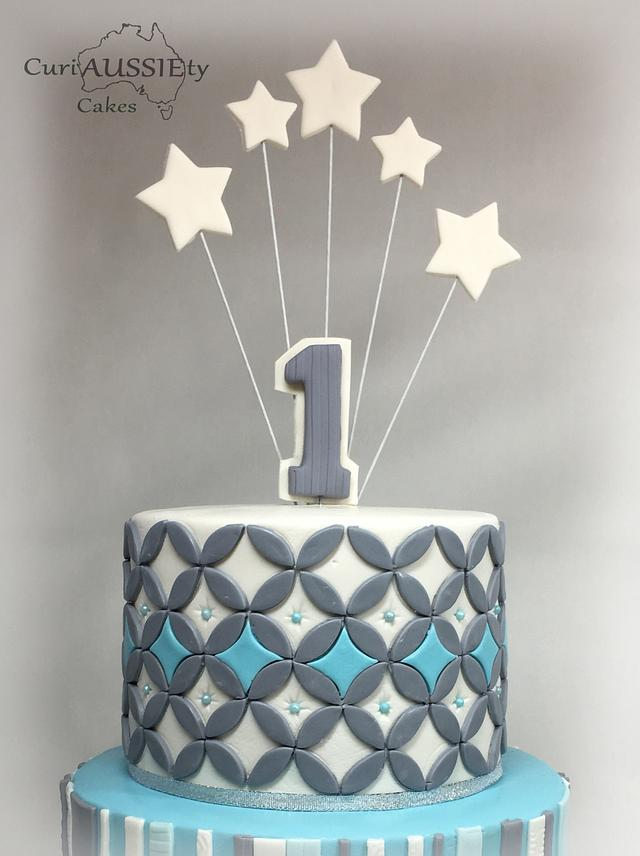 Boys first birthday cake
