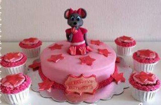 Babyshower cake girl mouse