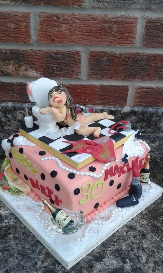 Dirty 30 cake