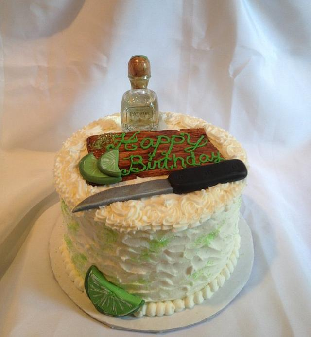 Enjoyable Drink Up Patron Cake Birthday Cake Cake By Caroline Cakesdecor Personalised Birthday Cards Veneteletsinfo