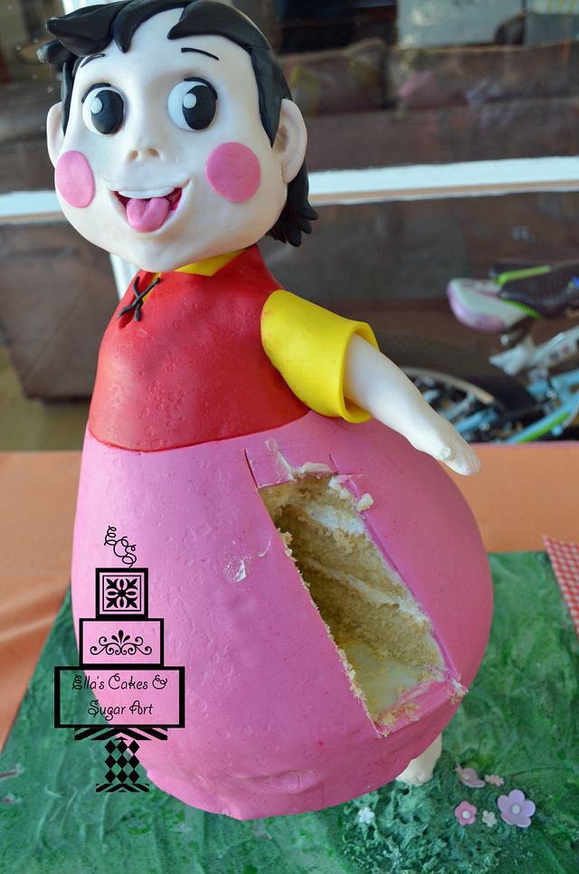 Heidi gravity defying cake