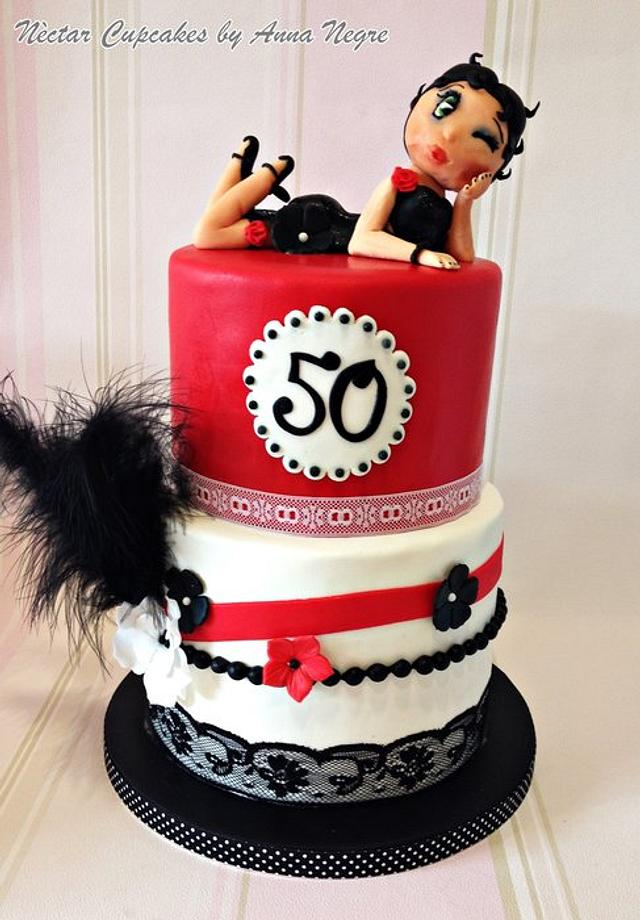 Fine Betty Boop Cake Cake By Nectarcupcakes Cakesdecor Birthday Cards Printable Opercafe Filternl