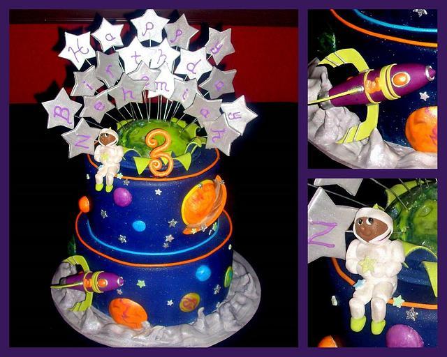 Spaceship 3rd Birthday Cake