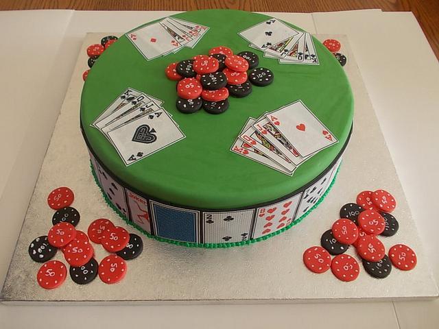 Excellent Poker Birthday Cake Cake By David Mason Cakesdecor Funny Birthday Cards Online Unhofree Goldxyz