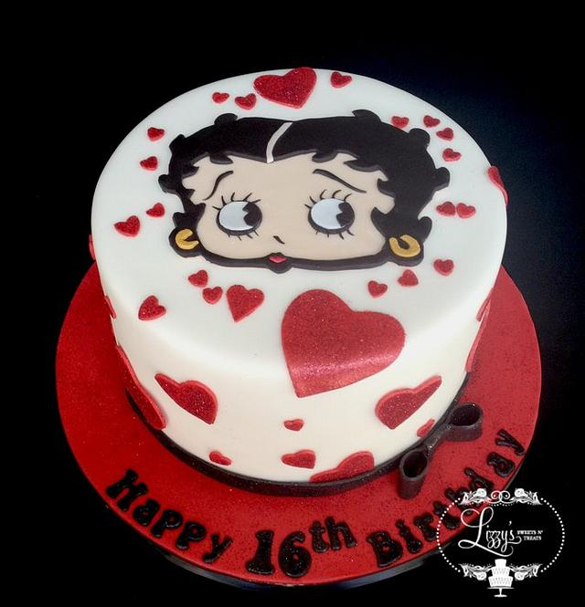 Excellent Betty Boop Birthday Cake Cake By Elizabeth Cakesdecor Birthday Cards Printable Opercafe Filternl