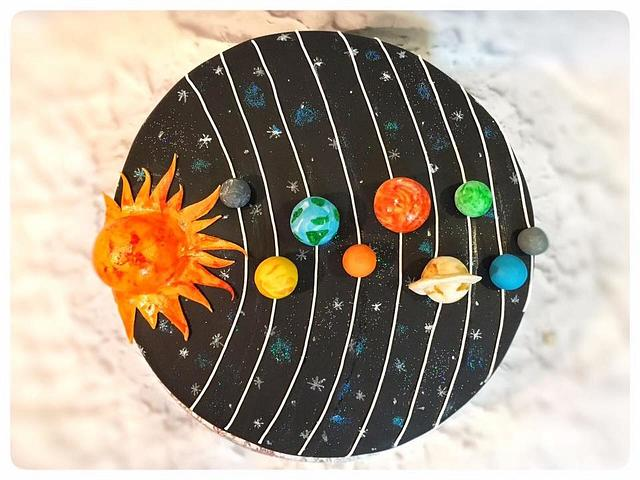 Solar Theme Cake