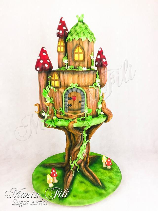 THE MAGICAL WORLD OF FAIRY HOUSES Birthday cake