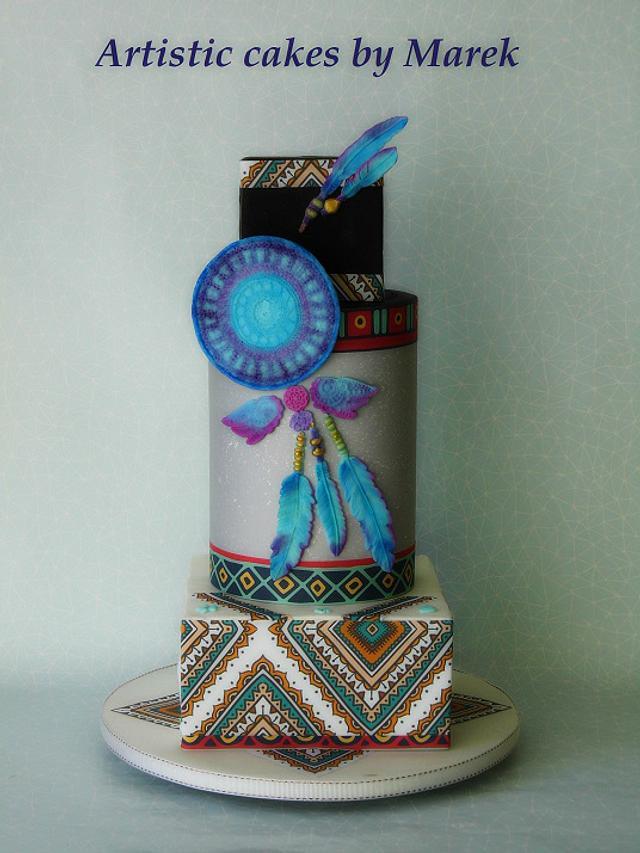 Boho birthday cake