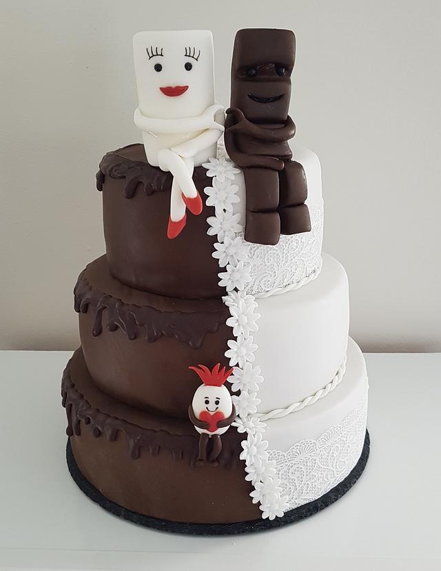 Milky & Schoki Weddingcake / Hochzeitstorte mit Schokobon ❤