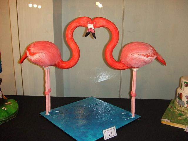 The Love of 2 Red Flamingos