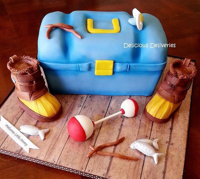 Tackle Box Baby Shower Cake