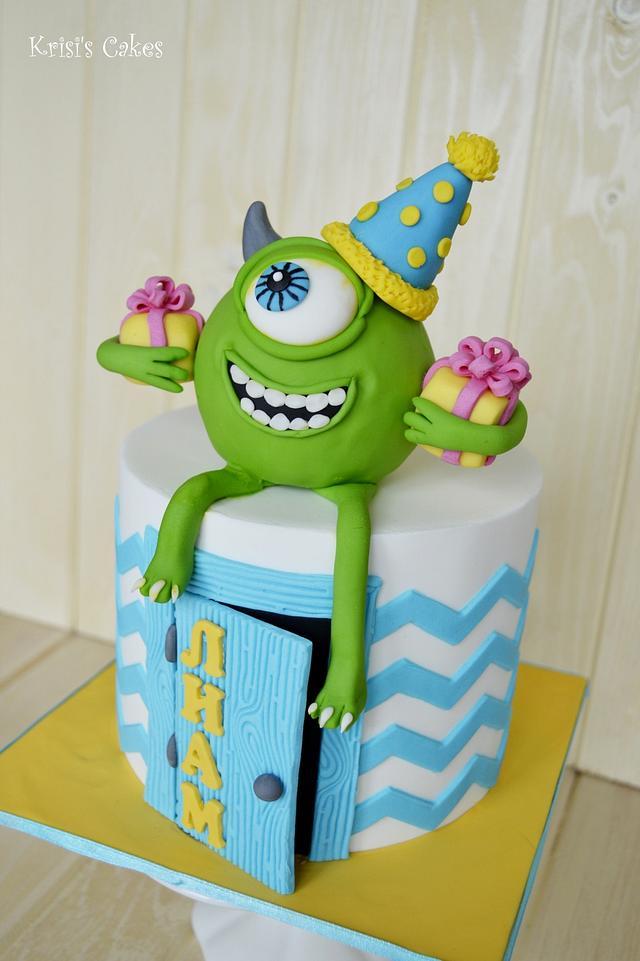 Cake mike wazowski