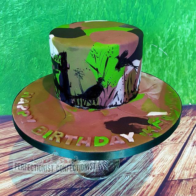 Admirable Ken Camouflage Birthday Cake Cake By Niamh Geraghty Cakesdecor Funny Birthday Cards Online Elaedamsfinfo