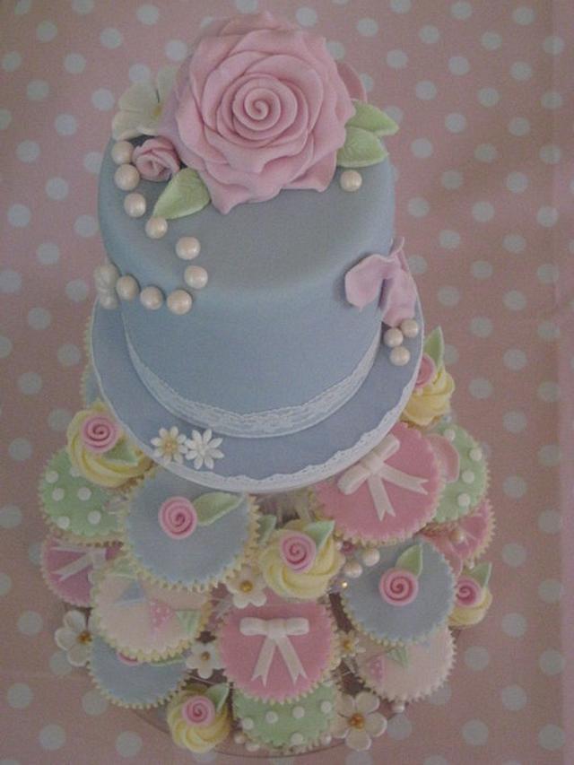 Cath Kidston inspired Cake & Cupcakes