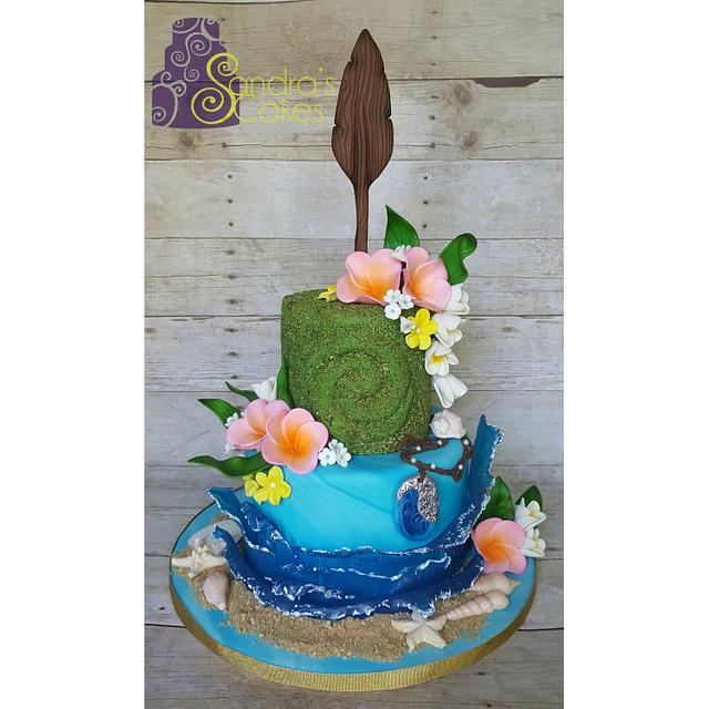Moana inspired birthday cake