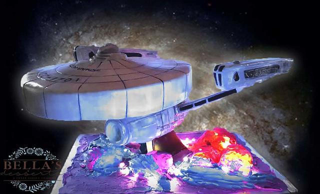 Star Trek Wrath of Khan Enterprise cake