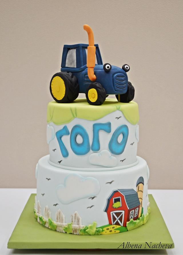 Strange Tractor Birthday Cake Cake By My Sweet Hobby Cakesdecor Funny Birthday Cards Online Fluifree Goldxyz