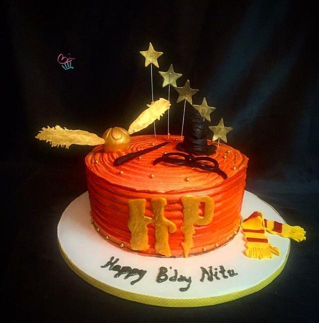 A harry potter themed cake..